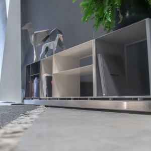 Libreria Credenza componibile in metallo Linea Elisir