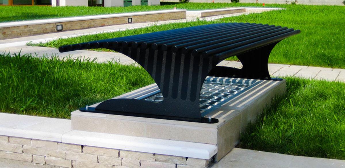 Arredi in metallo per esterni firmati DEA Metal Design
